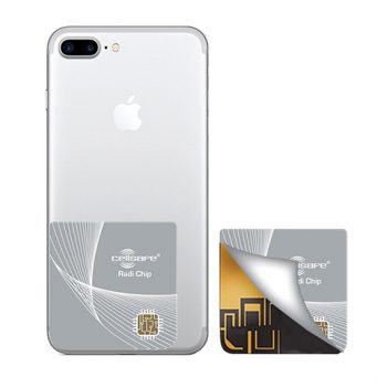 Cell Phone Radiation Protection - Start Lowering Absorption Today! Cellsafe Radi-Chip for <b>iPhone 6 Plus & 6S Plus</b>. Reduces SAR by up to 87.7%*